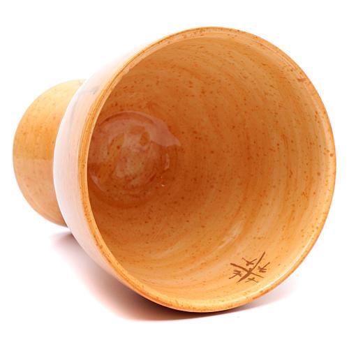 Kielich ceramika Puchar musztardowy kolor 6