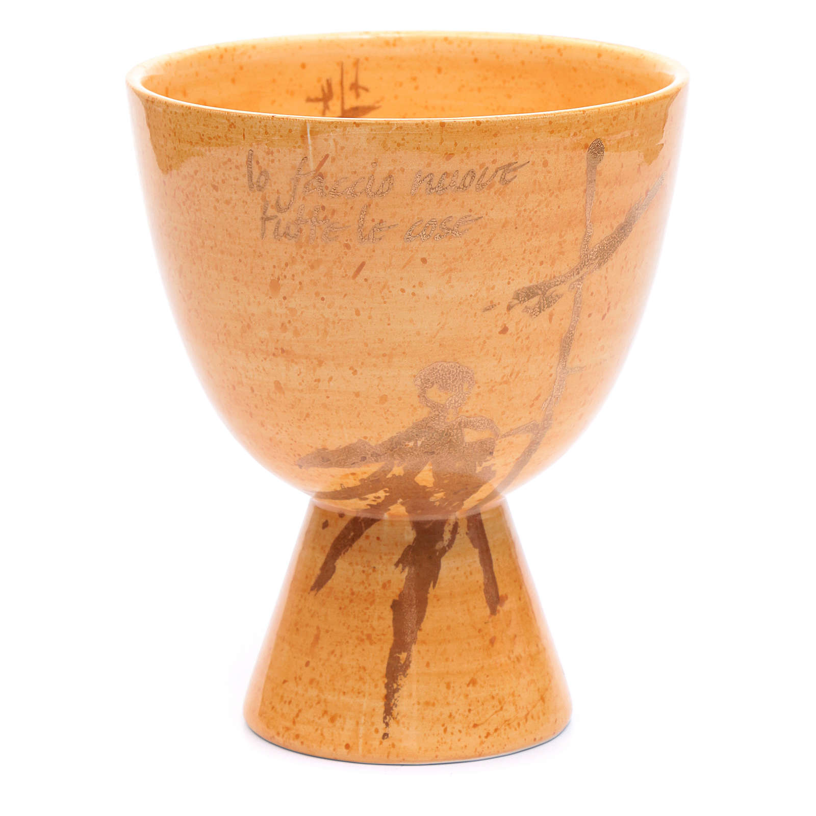 Chalice in beige ceramic, cup 4