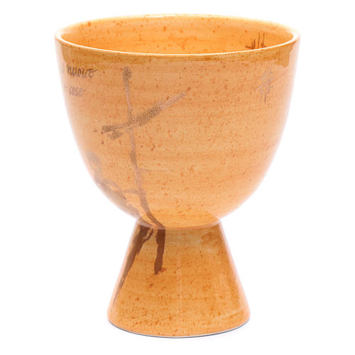 Chalice in beige ceramic, cup 2
