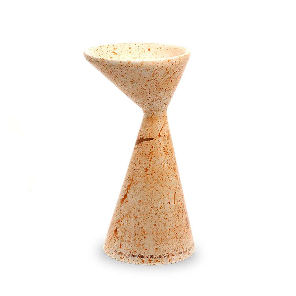 Cáliz cerámica color mostaza 4