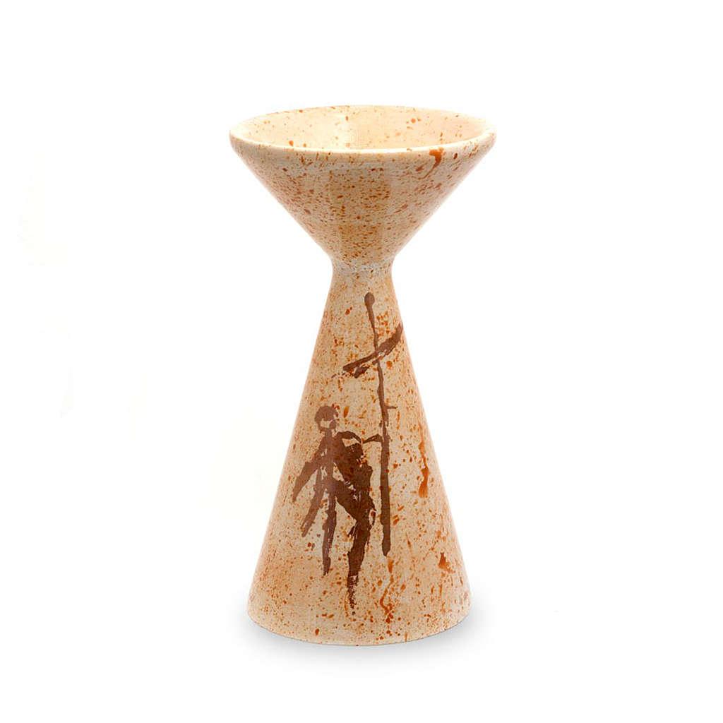 Kielich ceramika Spadzisty musztardowy 4