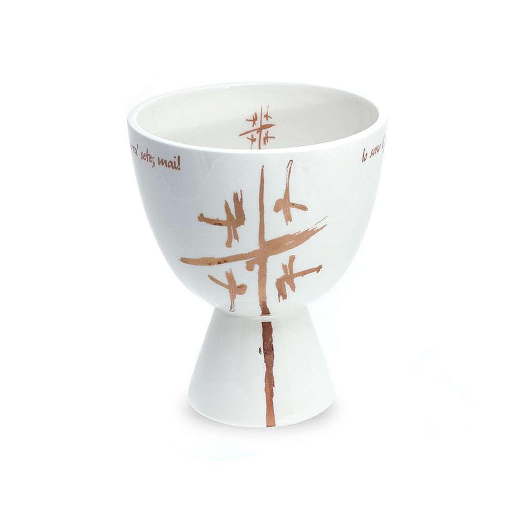 Kelch Linie Cana weiss aus Keramik 4