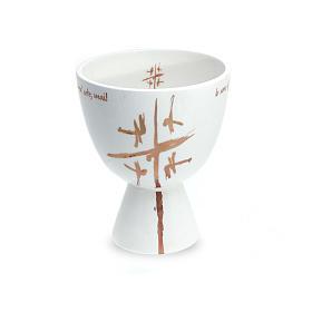 Kelch Linie Cana weiss aus Keramik s1
