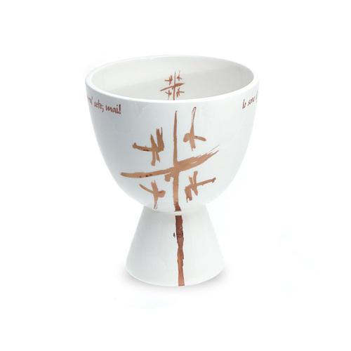Kelch Linie Cana weiss aus Keramik 1