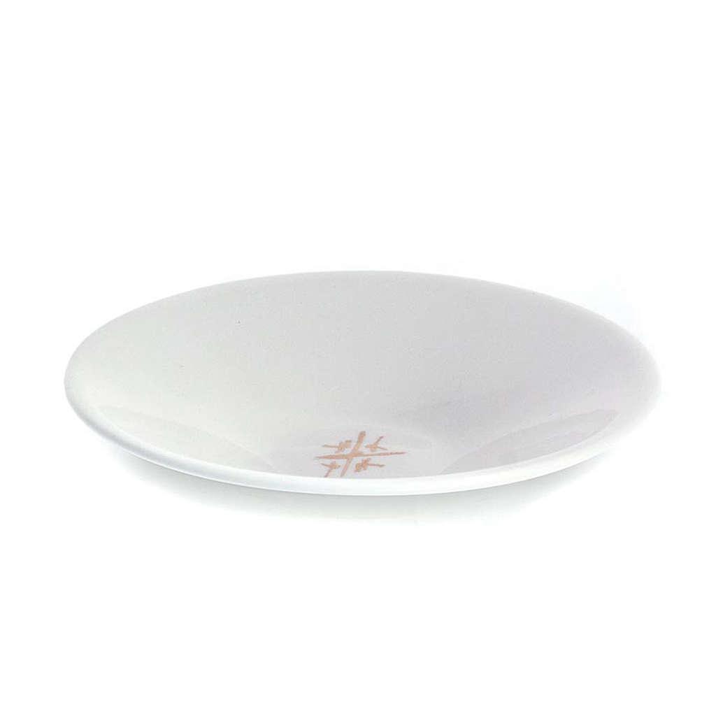 Patène disque ligne Cana blanc 4