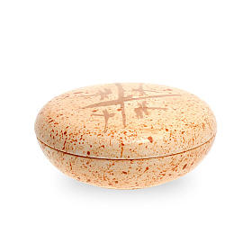 Mustard Paten rounded with lid, Cana Line s1