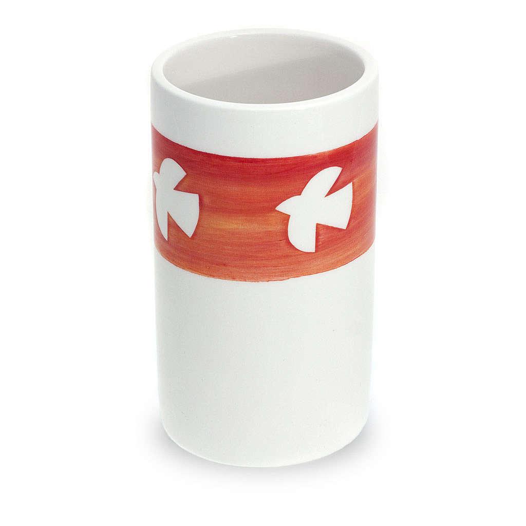 Ceramic communion chalice with dove 4