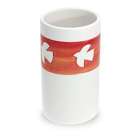 Ceramic communion chalice with dove s1
