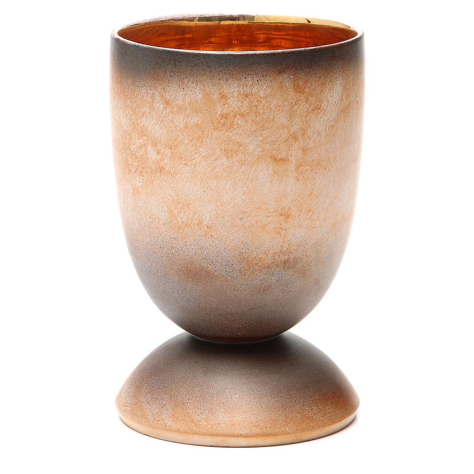Calice concelebrazione ceramica 3 fuoco pani pesci 4