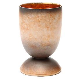 Calice concelebrazione ceramica 3 fuoco pani pesci s2