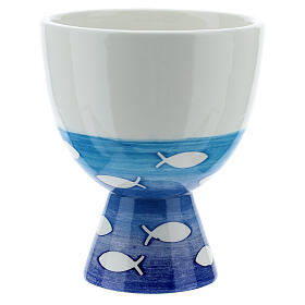 Pequeño Cáliz  cerámica pezes s3
