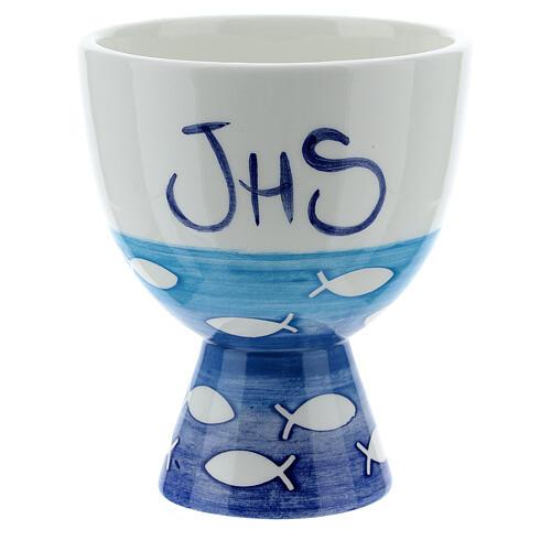 Pequeño Cáliz  cerámica pezes 1
