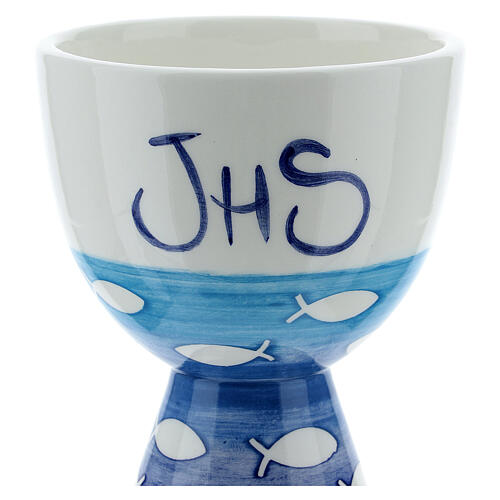 Pequeño Cáliz  cerámica pezes 2
