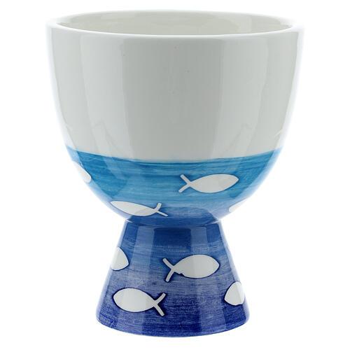 Pequeño Cáliz  cerámica pezes 3