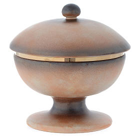 Tau ceramic ciborium with cup and lid s3