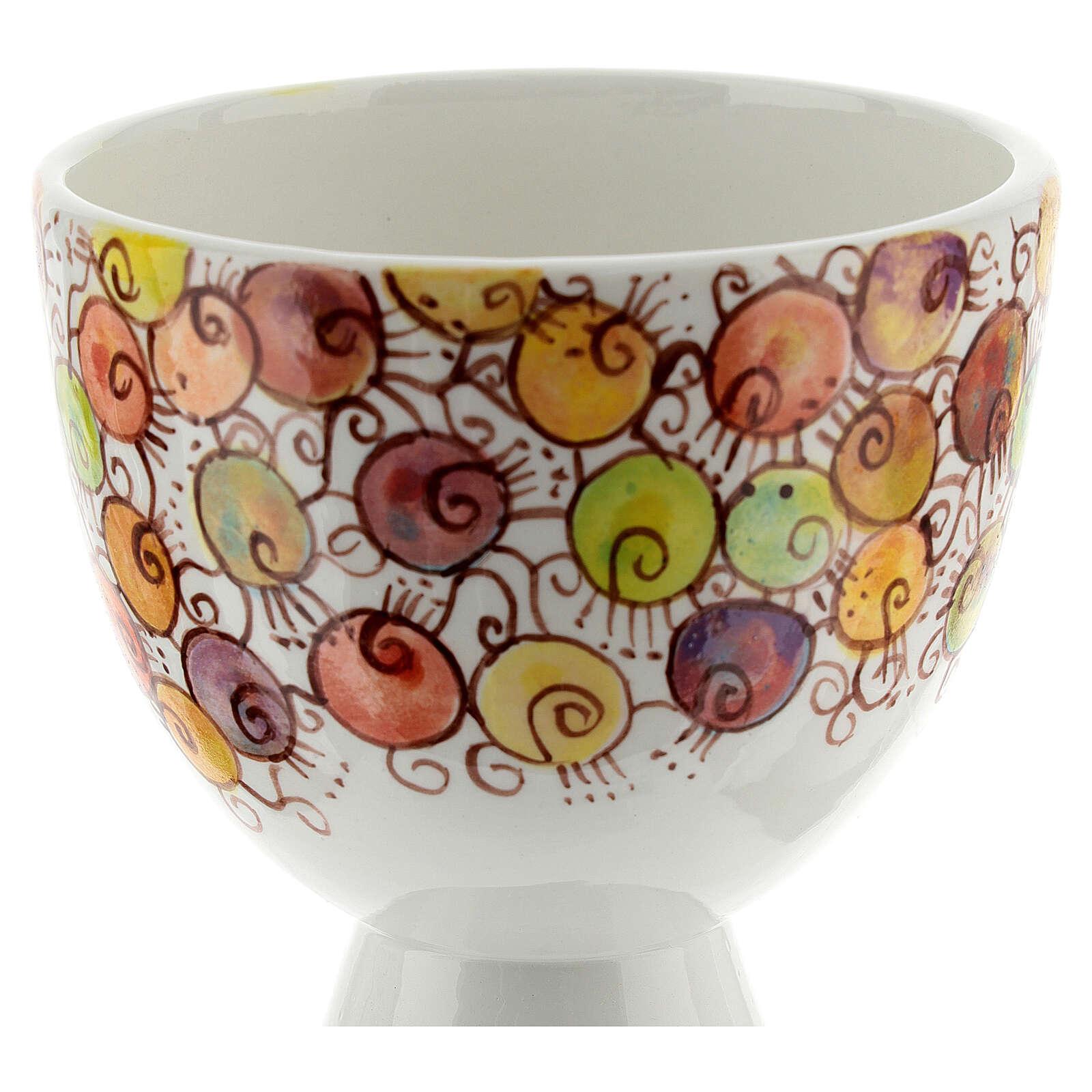 Calicino ceramica Linea Bacche 10 cm 4