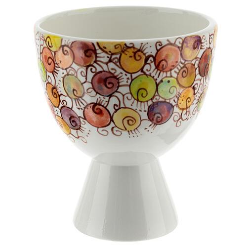 Calicino ceramica Linea Bacche 10 cm 3