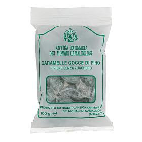 Bonbons Gemmes Sapin fourrées SANS SUCRE 100 gr Camaldoli s1