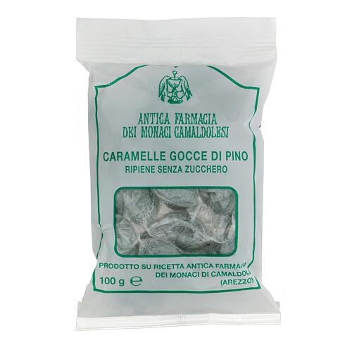 Bonbons Gemmes Sapin fourrées SANS SUCRE 100 gr Camaldoli 1