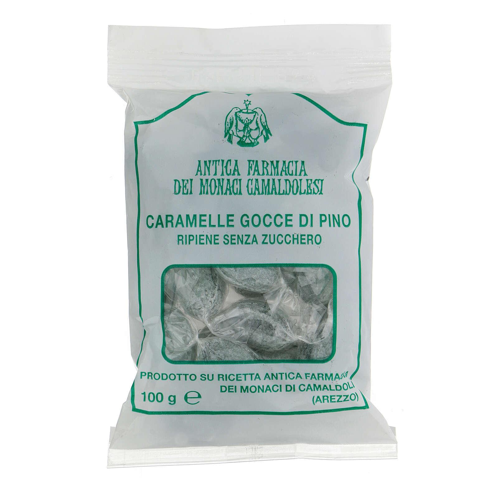 Caramelle Gocce Pino ripiene NO ZUCCHERO 100 gr Camaldoli 3