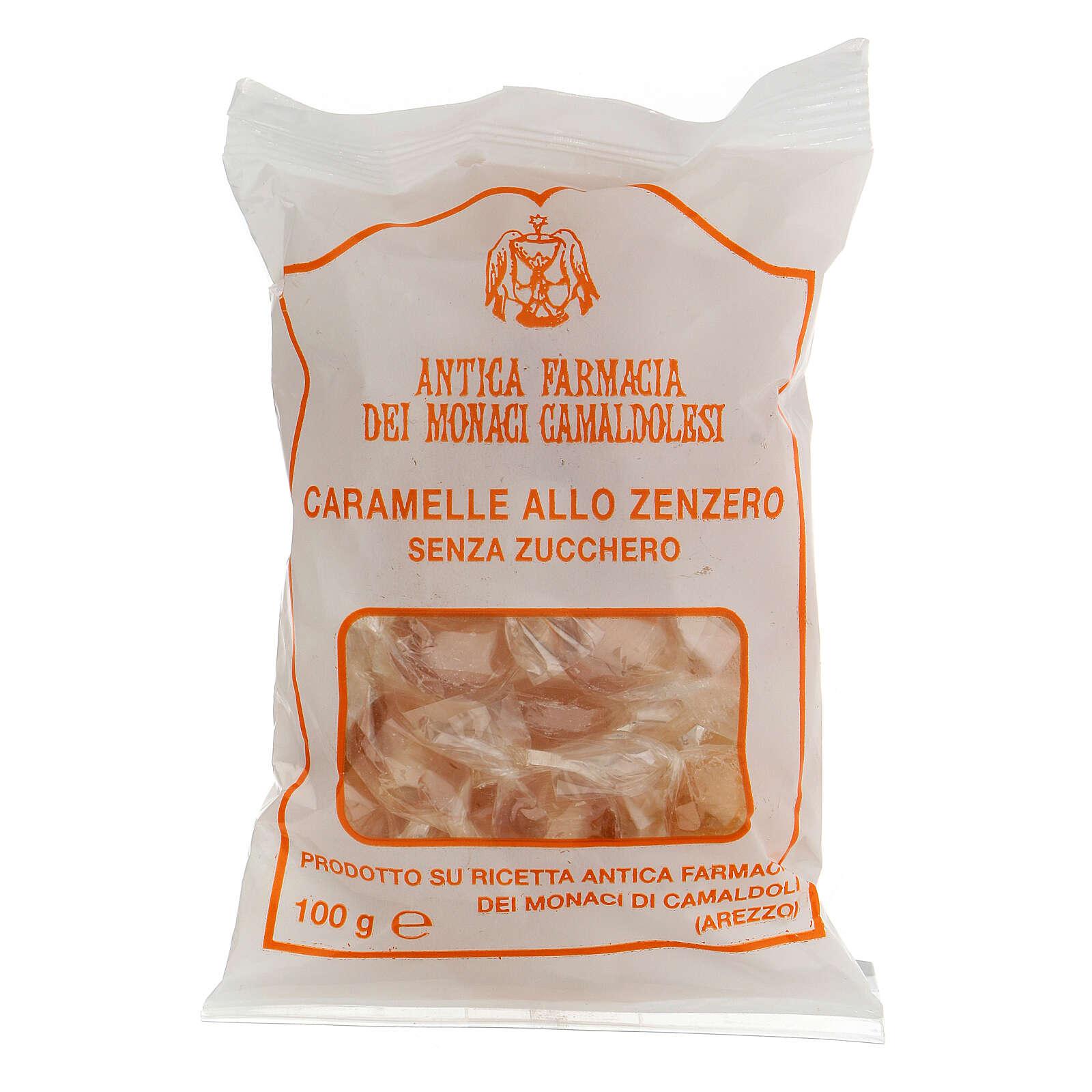 Caramelle allo Zenzero SENZA ZUCCHERO 100 gr Camaldoli 3