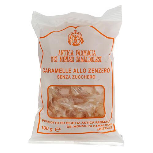 Caramelle allo Zenzero SENZA ZUCCHERO 100 gr Camaldoli 1