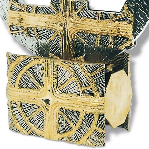 Candelabro tre fuochi croce con raggi 2
