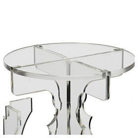 Candlestick in transparent plexiglass with 5 flames s6