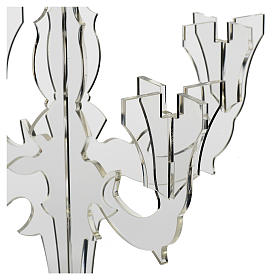 Candlestick in transparent plexiglass with 5 flames s2