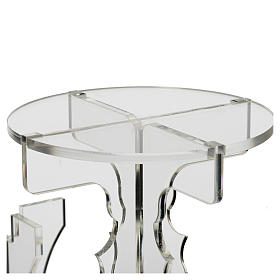 Candlestick in transparent plexiglass with 5 flames s3