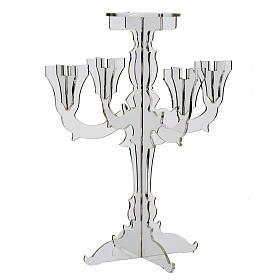 Candélabre plexiglas 5 branches transparente s4