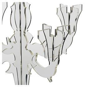 Candelabro in plexiglass 5 fiamme trasparente s5