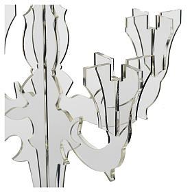 Candelabro in plexiglass 5 fiamme trasparente s2