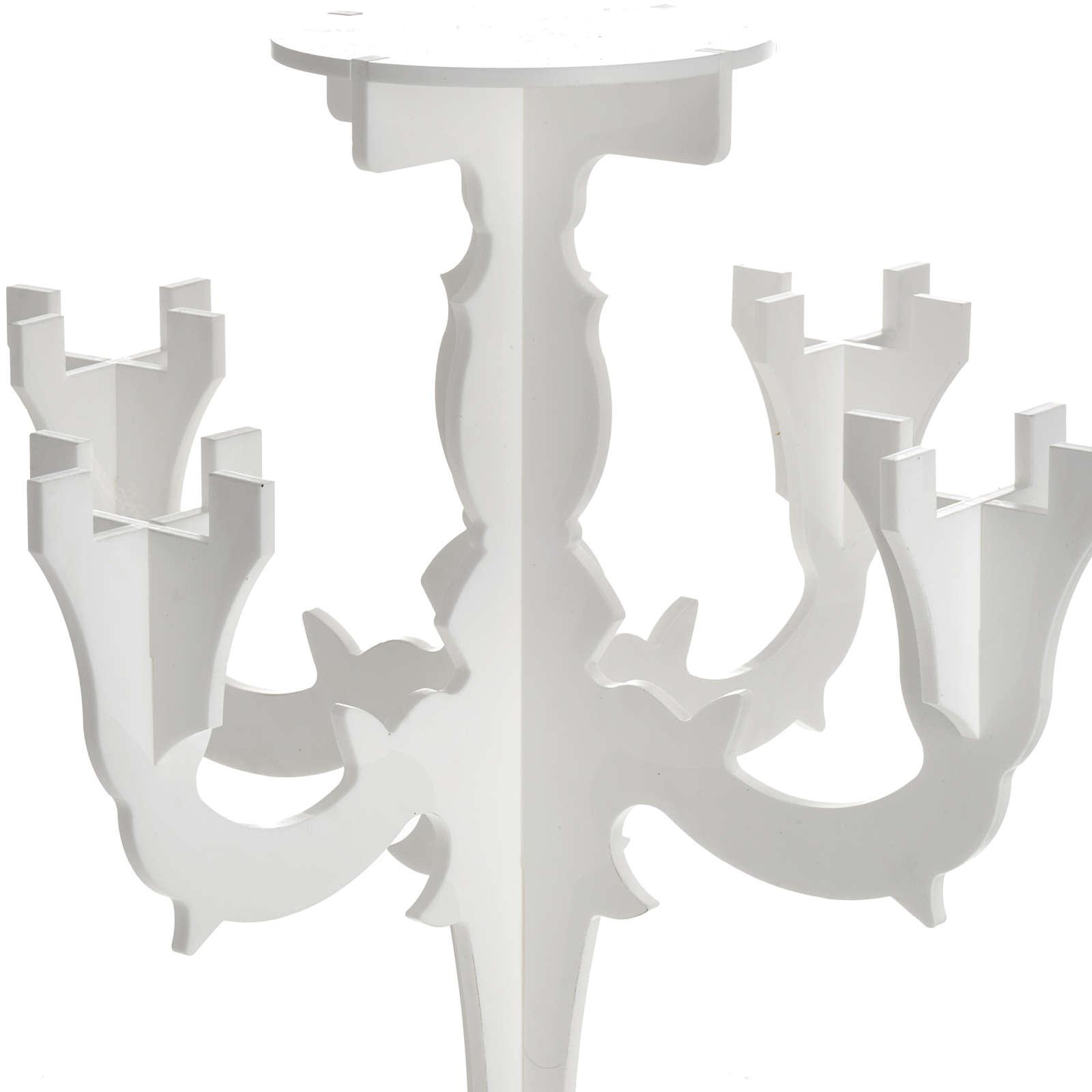 Candelabro in plexiglass bianco 5 fiamme 4