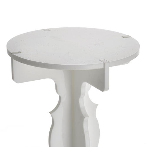 Candlestick in white plexiglass with 5 flames 3