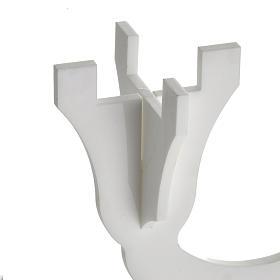 Candélabre plexiglas 3 branches blanc s3