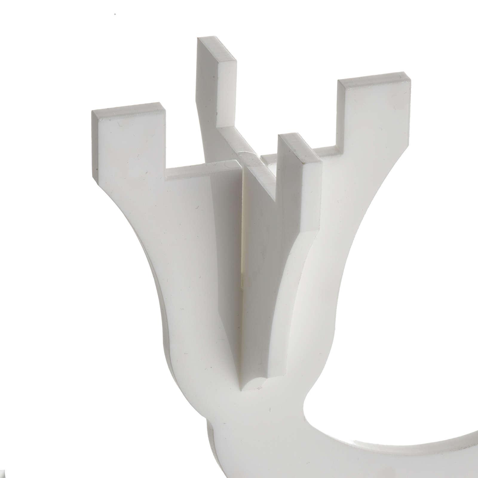 Candelabro in plexiglass bianco 3 fiamme 4