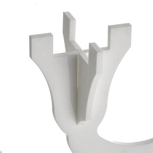 Candelabro in plexiglass bianco 3 fiamme 3