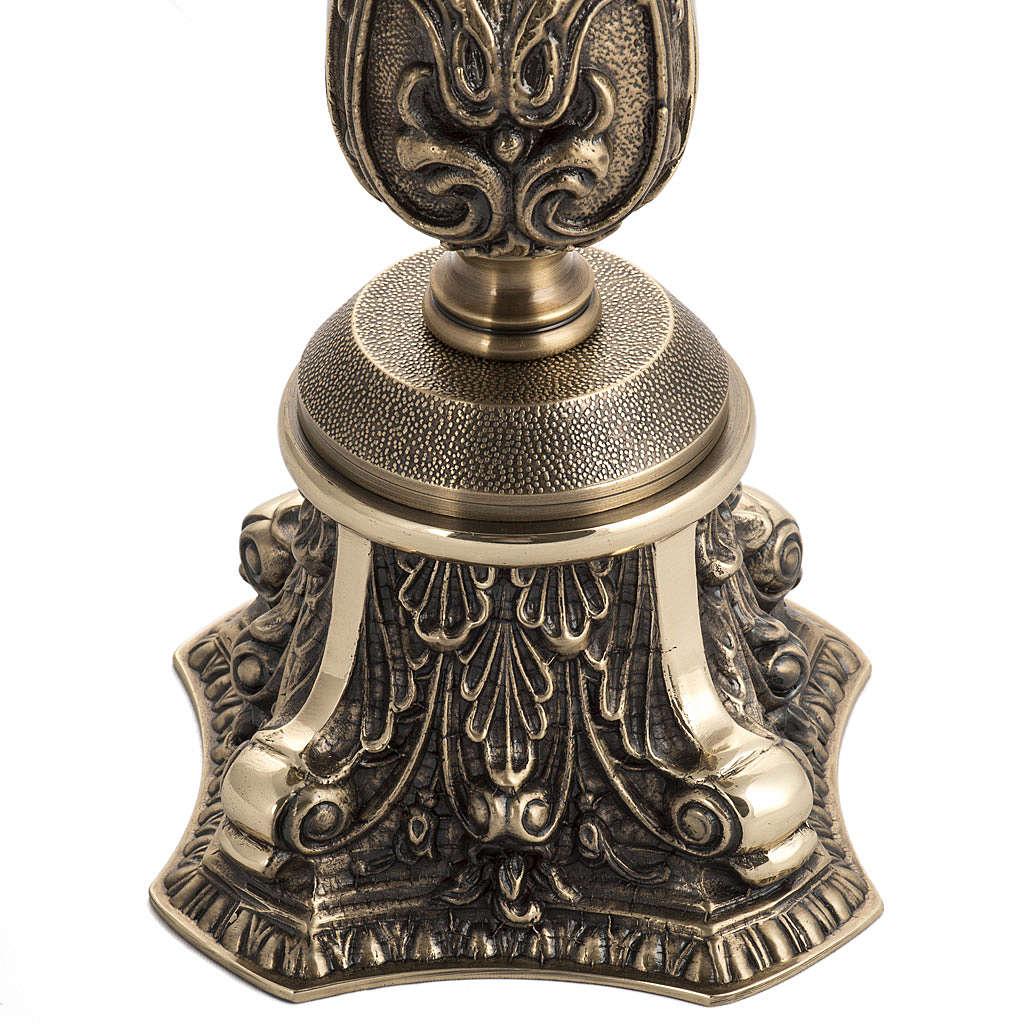 Candeliere in bronzo decorato 4