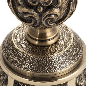 Candeliere in bronzo decorato s3