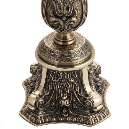 Candeliere in bronzo decorato 2
