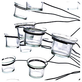 Tree tealight holder with transparent glasses s2