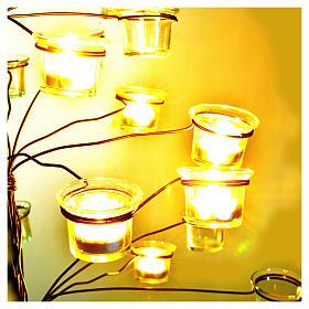 Candelabro árbol porta velas transparentes s3