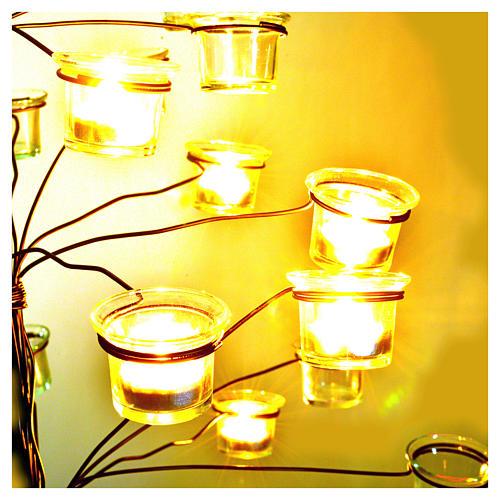 Candelabro árbol porta velas transparentes 3