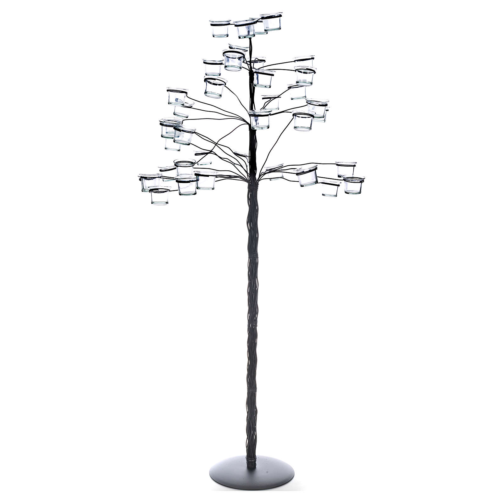 Candélabre porte-veilleuses en arbre 4
