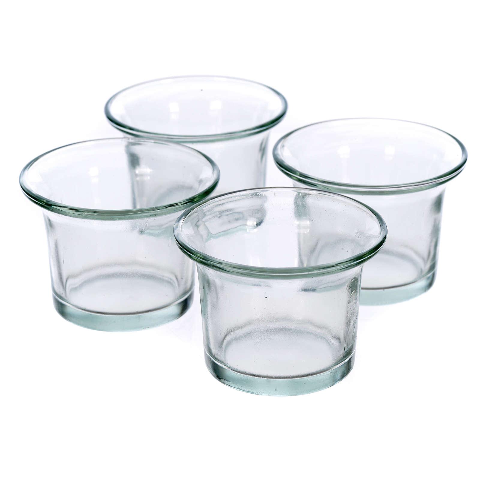Transparente Ersatzgläser und Lämpchenhalter für Baum-Kerzenhalt 4