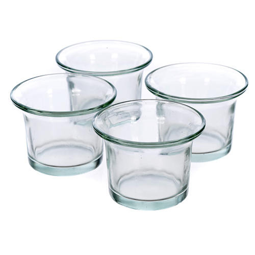 Replacement for tree candle holder, transparent glasses 1