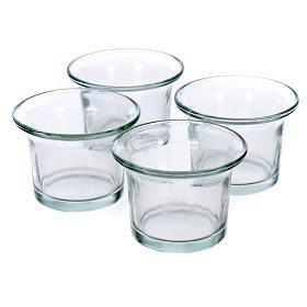 Bicchieri trasparenti ricambio portalumini ad albero s1