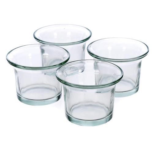 Bicchieri trasparenti ricambio portalumini ad albero 1