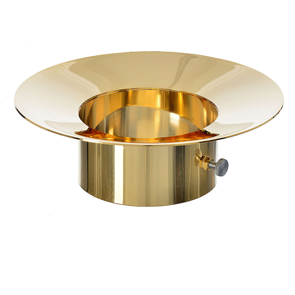 Sliding wax collector in brass for Paschal candles, 8cm diameter 3